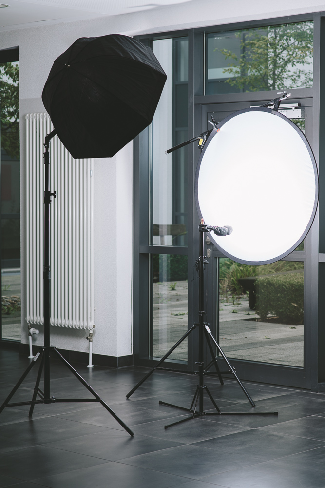 Licht- und Hintergrundaufbau