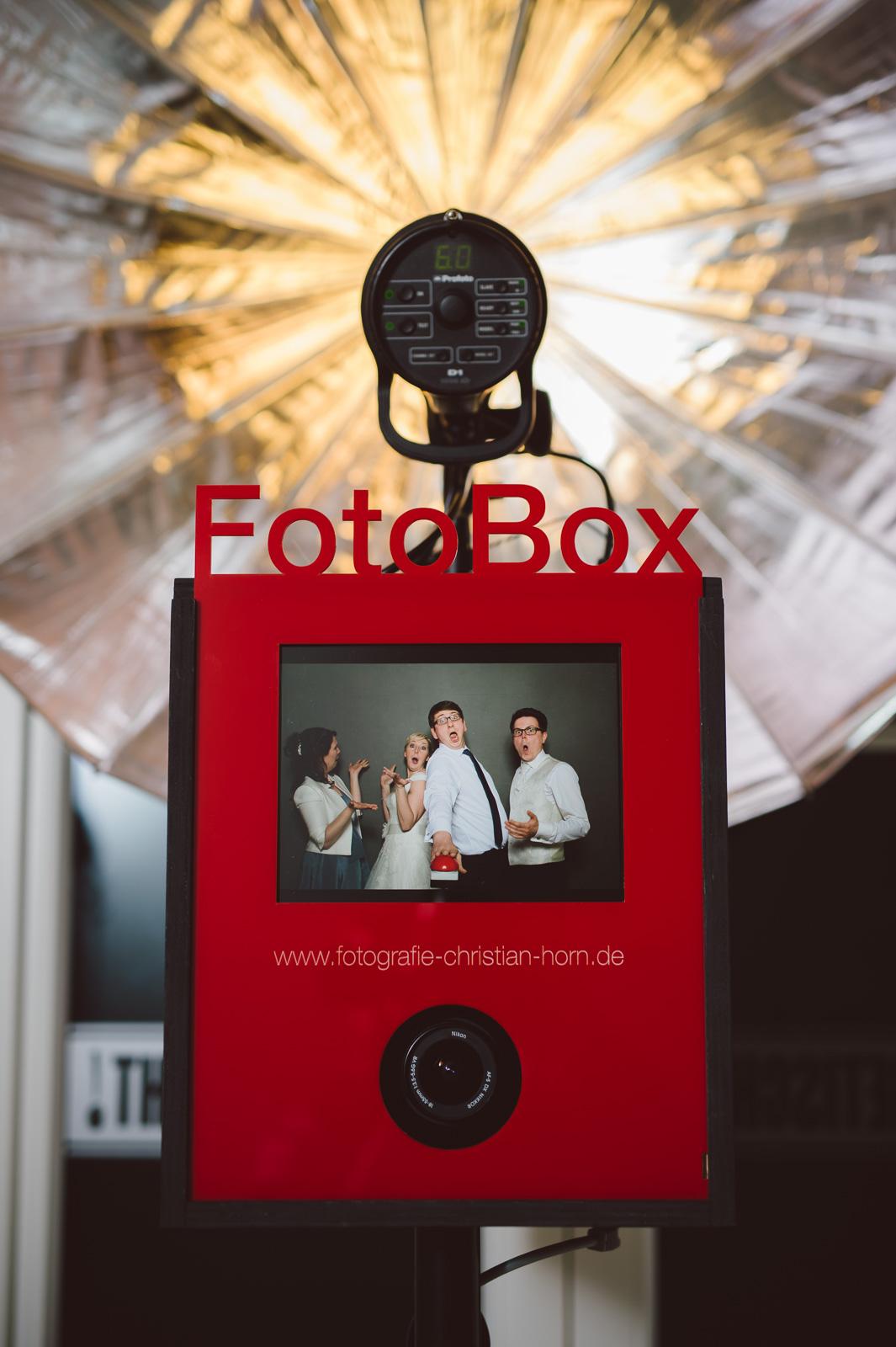 FotoBox Deluxe auf Hochzeit